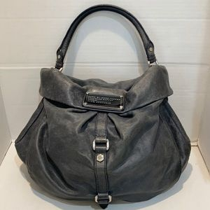 Marc by Marc Jacobs Grey Leather Workwear Hobo Bag